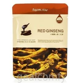 Farmstay Visible Difference Mask Sheet Red Ginseng маска для лица с экстрактом красного женьшеня, 1 шт