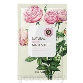 The SAEM Natural Rose Mask Sheet тканевая маска для лица с экстрактом розы