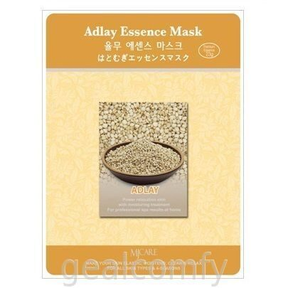 Маска для лица с экстрактом злака адлай MJ Care Adlay Essence Mask, 1 шт