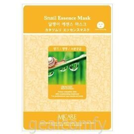 MJ Care Snail Essence Mask маска для лица с экстрактом слизи улитки, 1 шт