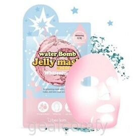Berrisom Water Bomb Jelly Mask Whitening осветляющая маска для лица с эссенцией-желе