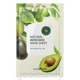 The SAEM Natural Avocado Mask Sheet тканевая маска для лица с экстрактом авокадо