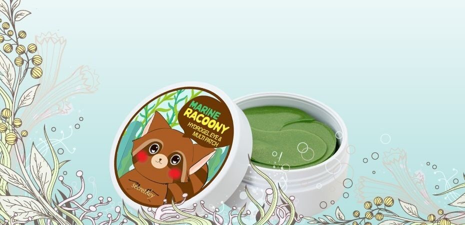 Secret Key Marine Racoony Hydrogel Eye Multi Patch - новинка Зеленый Енот!