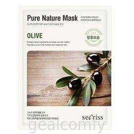 Secriss Pure Nature Mask Olive тканевая маска для лица с экстрактом оливы