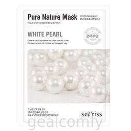 Secriss Pure Nature Mask White Pearl тканевая маска для лица с экстрактом белого жемчуга