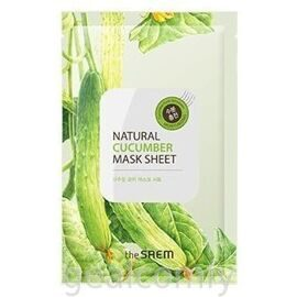 The SAEM Natural Cucumber Mask Sheet тканевая маска для лица с экстрактом огурца