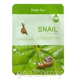 Farmstay Visible Difference Mask Sheet Snail маска для лица с экстрактом слизи улитки, 1 шт