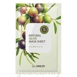 The SAEM Natural Olive Mask Sheet тканевая маска для лица с экстрактом оливы
