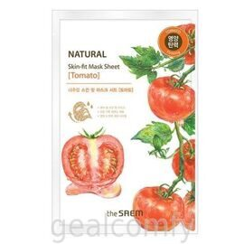 The SAEM Natural Skin Fit Mask Sheet Tomato тканевая маска для лица с экстрактом томата