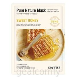 Secriss Pure Nature Mask Sweet Honey тканевая маска для лица с экстрактом меда
