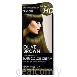 Tony Moly Make HD Hair Color Cream 7K Olive Brown крем-краска для волос
