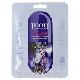 Jigott Collagen Real Ampoule Mask ампульная маска с коллагеном