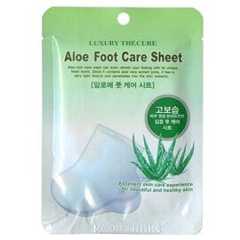 Маска-носочки для ног Luxury The Cure Aloe Foot Care Sheet с экстрактом алоэ, 1 пара