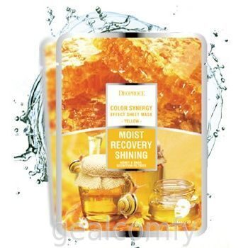 Deoproce Color Synergy Effect Sheet Mask Yellow маска для лица с экстрактом слизи улитки и мёда