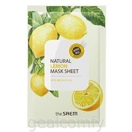 The SAEM Natural Lemon Mask Sheet тканевая маска для лица с экстрактом лимона