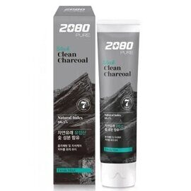 Зубная паста «Уголь и Мята» Dental Clinic 2080 Black Clean Charcoal Toothpaste 120g