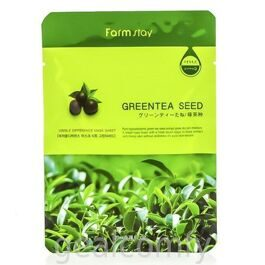 Farmstay Visible Difference Mask Sheet Green Tea Seed маска для лица с экстрактом семян зеленого чая, 1 шт
