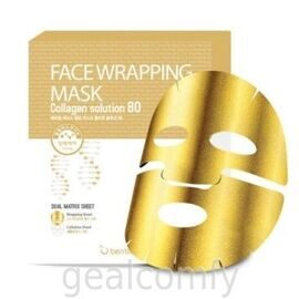 Berrisom Face Wrapping Mask Collagen Solution 80 маска-обертывание для лица с коллагеном