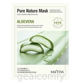 Secriss Pure Nature Mask Aloe Vera тканевая маска для лица с экстрактом алоэ