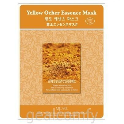 Маска для лица с экстрактом желтой охры MJ Care Yellow Ocher Essence Mask, 1 шт